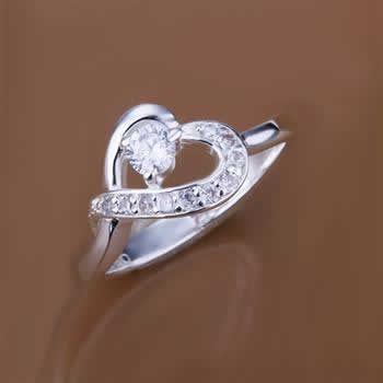 Потерять деньги! 925 серебро кольцо, 925 серебро ювелирные изделия, Инкрустированные камень влюбленность кольца R150