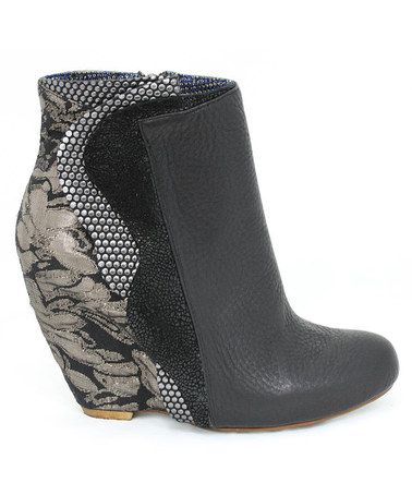 Take a look at this Black Motherly Love Wedge Boot by Irregular Choice on #zulily today!