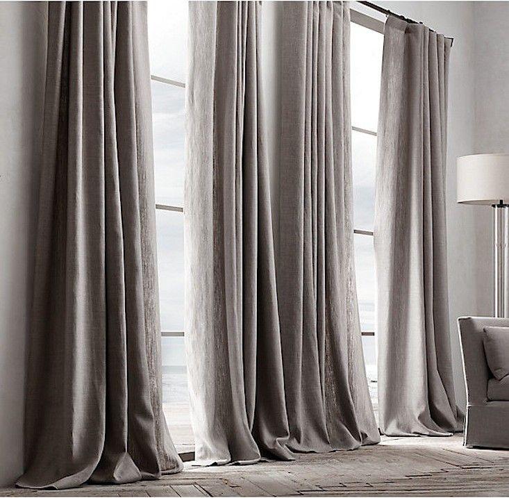 Belgian Textured Linen Drapery: Remodelista