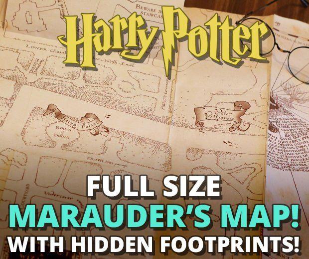 Marauder S Map With Hidden Footprints Full Size Replica Bastelideen Weisheiten Basteln
