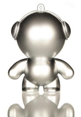 Silver Mini Monster Speaker - Little speakers with BIG sound! These little guys are perfect for BBQ's, garden parties, or anywhere else you might need portable music. Available in lots of colours.