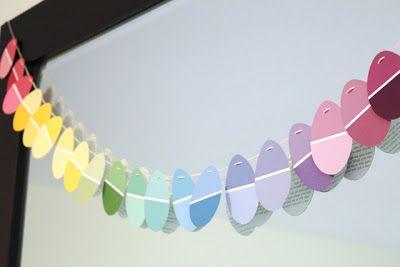 Fawn: Easter Garland - tolle idee für farbmusterkarten
