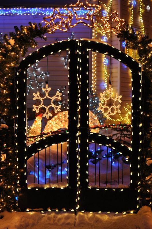 Gate Lights christmas Christmas lights, Snowflake