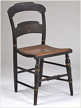 Chair Made By Alford, Hitchcock And Company Unidentified Wood 1829 1843 H:  34.25