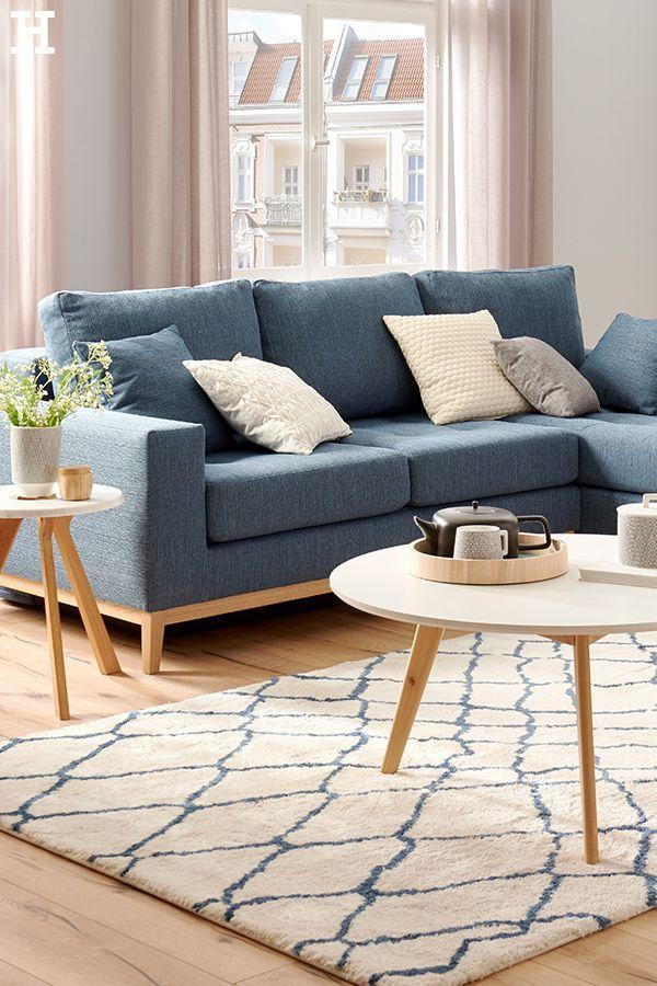 Switch Ecksofa Tulsa Gefunden Bei Mobel Hoffner Blue Sofas Living Room Blue Sofa Living Scandi Living Room