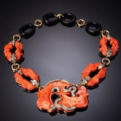 Coral necklace DAVID WEBB, 1970's