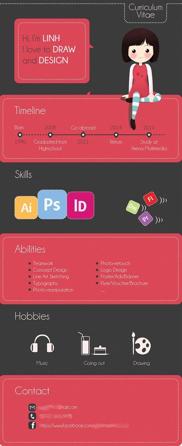 Artist Cv Creative Cv Design Cv Infographic