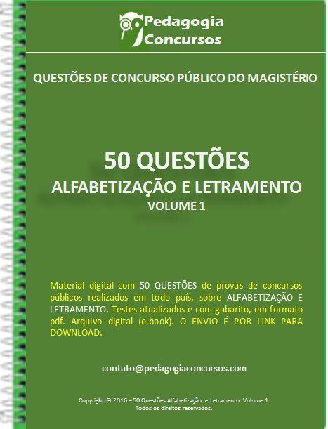 50 Questões Alfabetização e Letramento