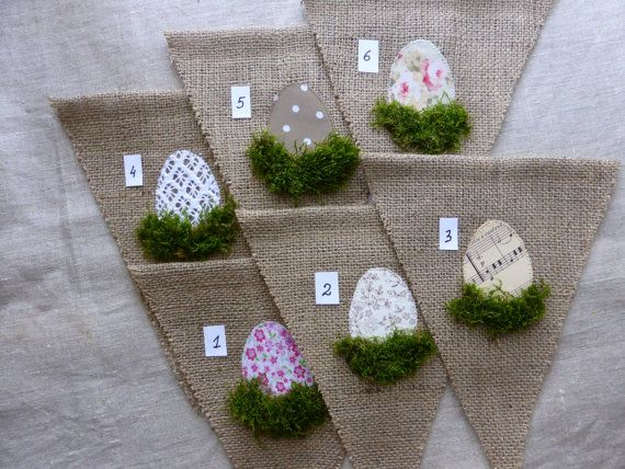 Easter burlap banner garland with easter eggs and by domekdecor, $17.00