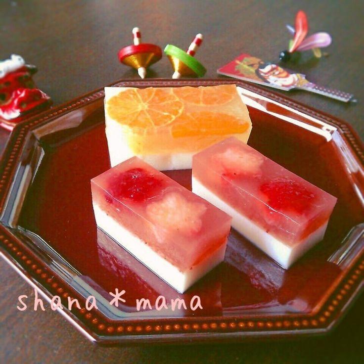 お節に♪紅白いちごミルク寒天♪みかん寒天♪ by しゃなママ   レシピサイト「Nadia   ナディア」プロの料理を無料で検索