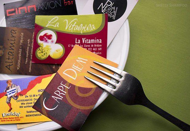 Un listado de establecimientos para que puedas disfrutar de los platos y tapas de la gastronomía de la isla de La Palma, o de una noche de copas entre amigos...(Foto de Shelly Shampoo - Escuela de Arte de La Palma)