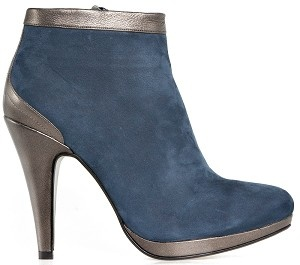Boot ankle glamour blue nubuck bronze