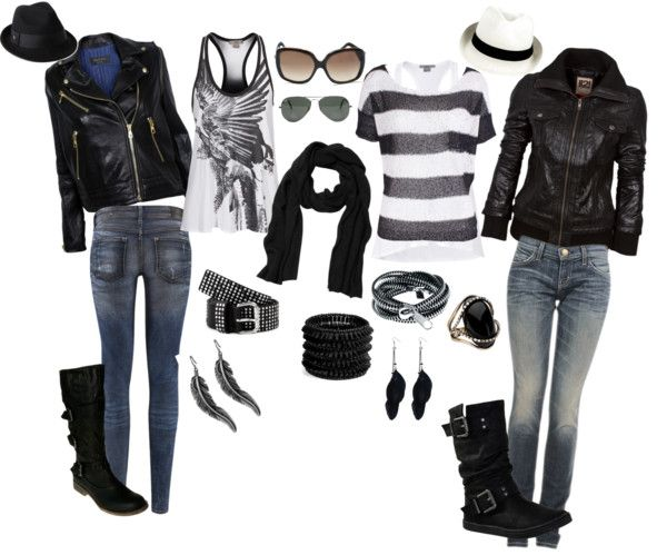 """I know it says biker chick but I think this has Vanessa written all over it. :) """"Biker chick"""" by fitmamma21 on Polyvore"""