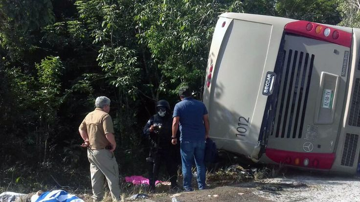 NPR News: 12 Dead After Crash Of Tourist Bus Headed For Mayan Ruins In Mexico #business #radio #music #broadcasting