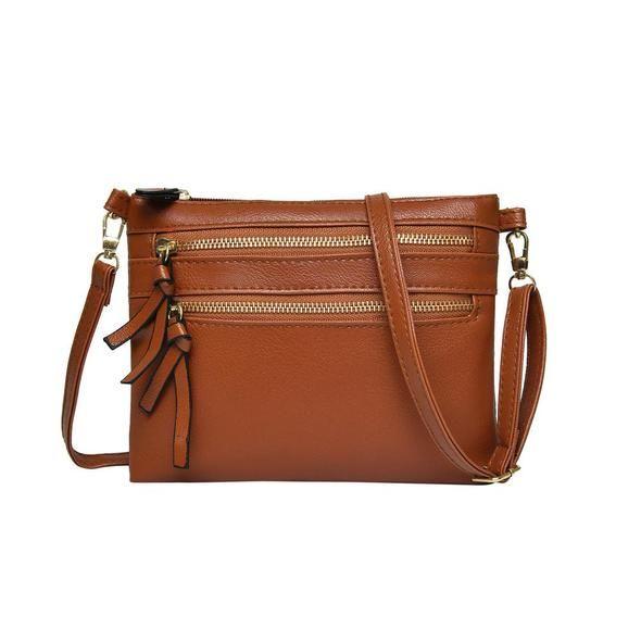 d4b94da531 ladies hand bags Women Girl Fashion Leather Flap Pretty Litchi Pattern  Crossbody Shoulder Bag bolsos mujer de marca famosa 2018