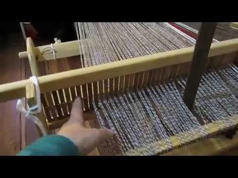 """Telar de Peine : Camino de mesa con guarda """"damero"""" - YouTube"""