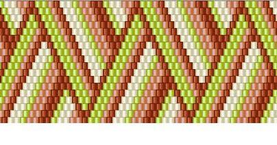 схема полосатого браслета 2 - мозаичное плетение