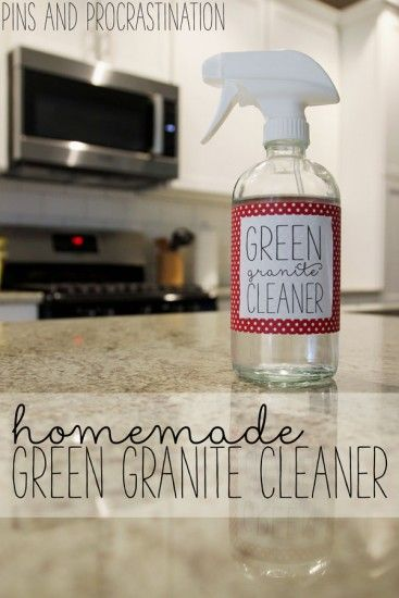 Green homemade granite cleaner green homemade and i want to for Homemade cleaning solution for concrete
