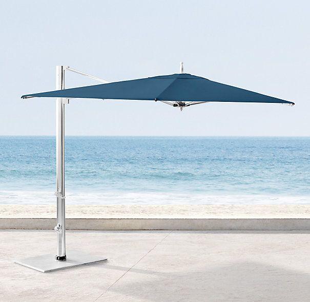 Tuuci ocean master max square cantilever umbrella mf h for Restoration hardware outdoor umbrellas