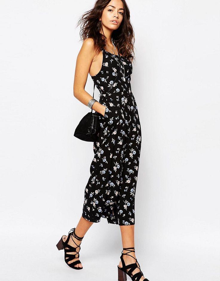 Изображение 4 из Комбинезон с юбкой-брюками и принтом в цветочек New Look
