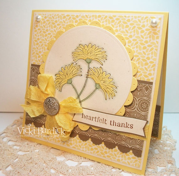 It's a Stamp Thing: SSSC162......Heartfelt Thanks: Card Idea, Card Tags, Card Flower, Card Pin, Crafts Card, Card Samples, Card General, Card Iv, Card Inspiration