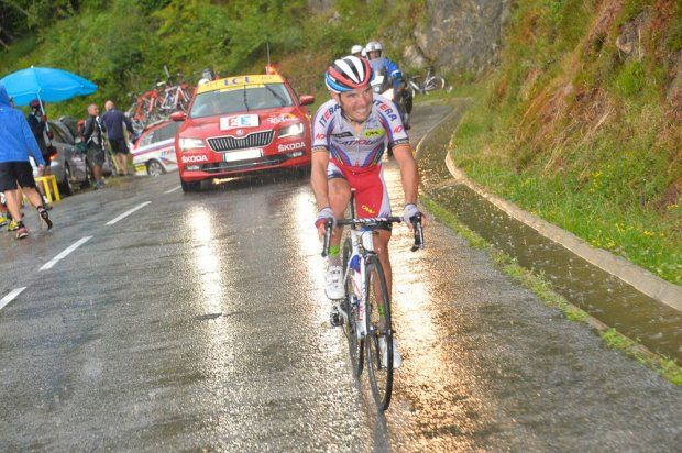 Joaquim Rodriguez. Stage 12 winner. Lannemezan to Plateau de Beille.