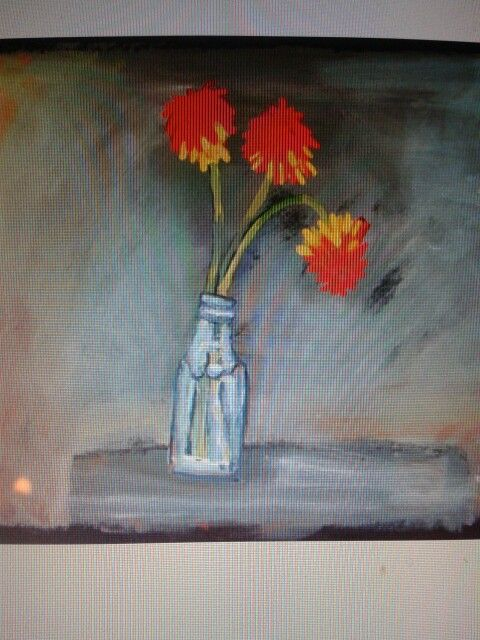 Red hot pokers in a bottle by helen mudge. South Africa