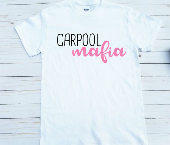 Car Pool Mafia Tired Mama T-shirt Momlife Mommy Needs by Alandalie