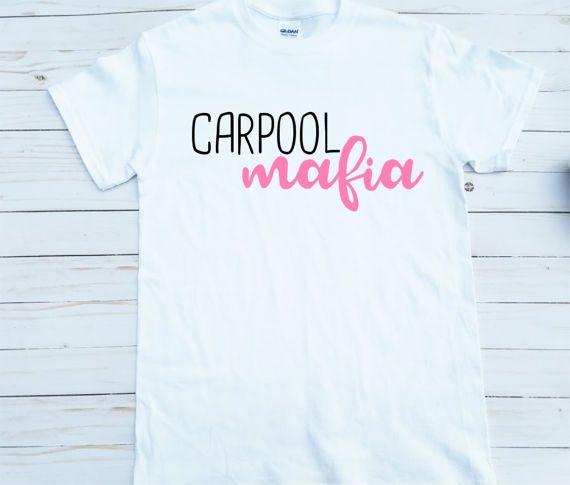 Car Pool Mafia Tired Mama T-shirt Momlife Mommy Needs by Alandalie