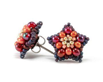 Bead Origami: Wildflower Fields Earrings
