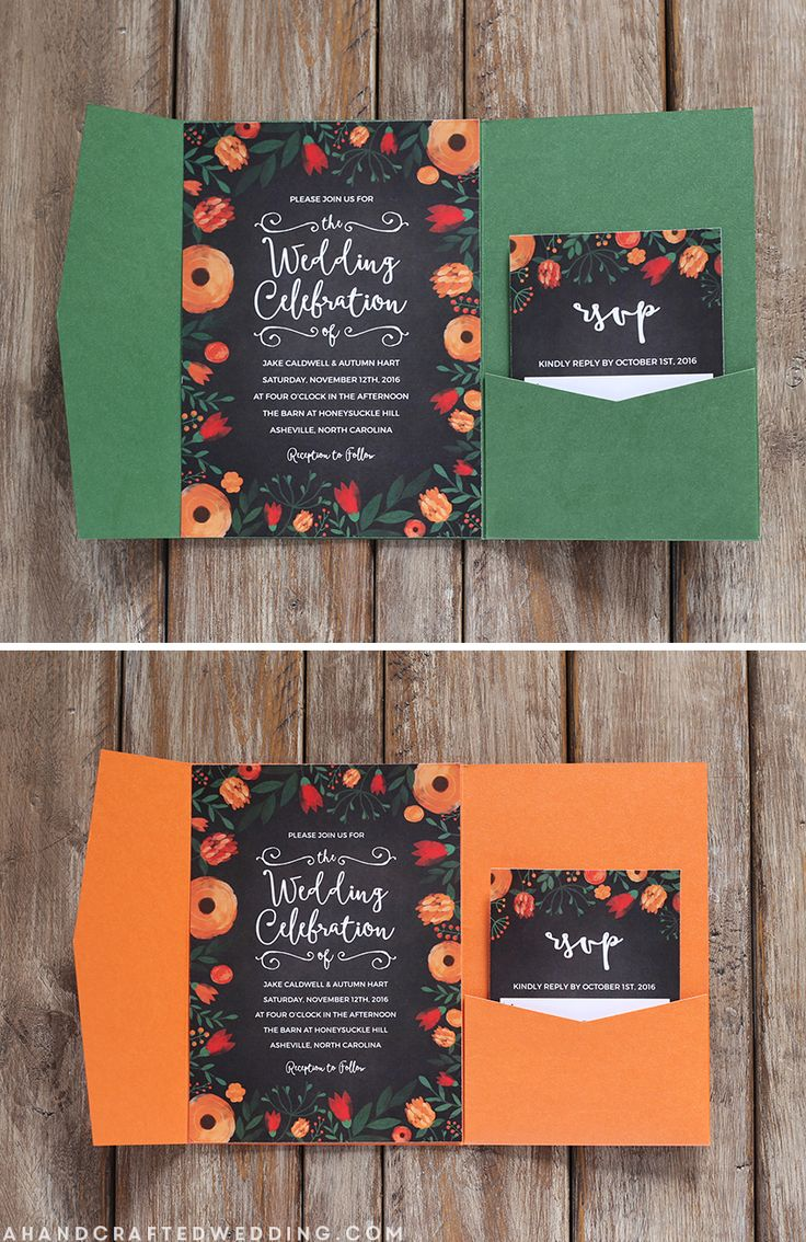 Great FREE Whimsical Wedding Invitation Template