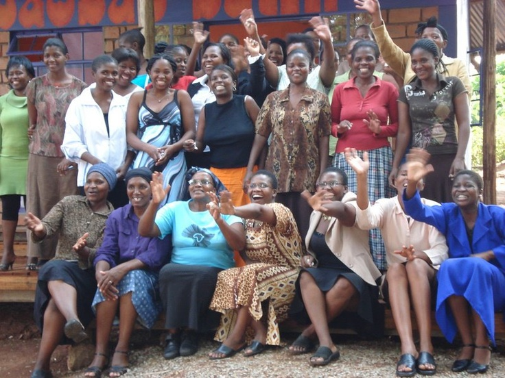 The Baobab Batik team outside the shop at Swazi Candles when it opened!!! ...