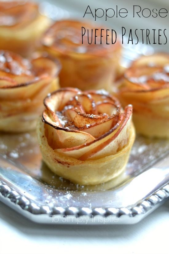 These Apple Rose Puffed Pastries are a simple yet elegant way to serve a unique dessert. | http://wwwToSimplyInspire.com