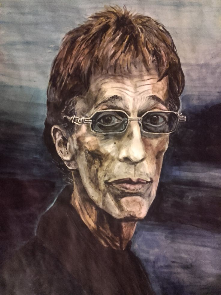 "Robin Gibb ""I Know!"" (Baby as you turn away...) Acrylics on paper 2016"