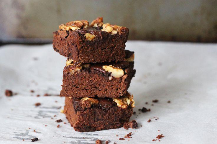 Gluten Free Pumpkin Walnut Brownies - The Holistic Ingredient