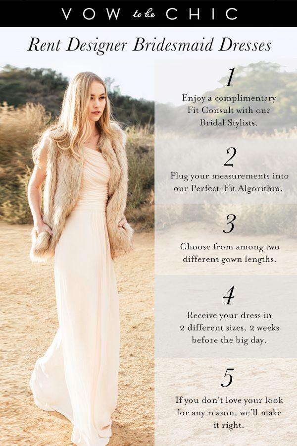 461 best bridesmaid dresses to rent at vow images on for Rent designer wedding dresses online