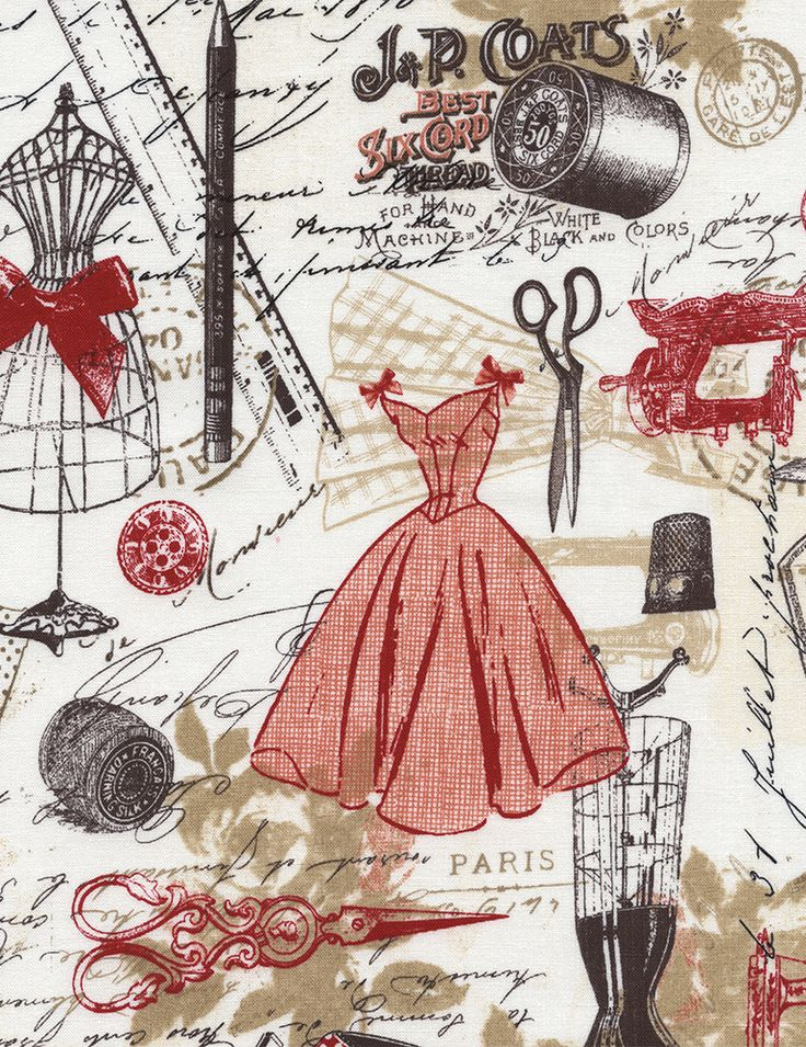 This would look awesome as the lining in my Featherweight case!!!! Vintage Dressmaking - Our Fabrics   TIMELESS TREASURES