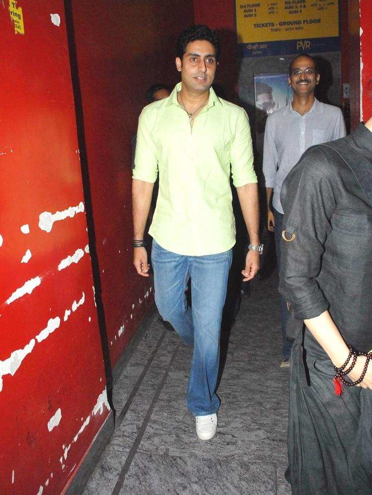 Abhishek Bachchan at Movie Balak Palak Screeening.