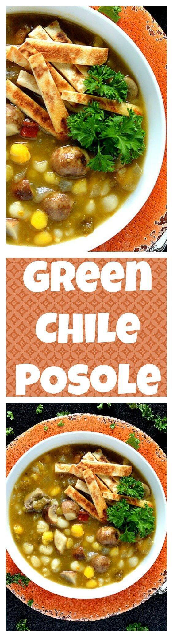 Green Chile Portobello Posole