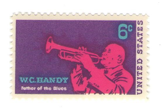 10 Unused 1969 WC Handy - Father of the Blues - Vintage Postage Stamps Number 1372