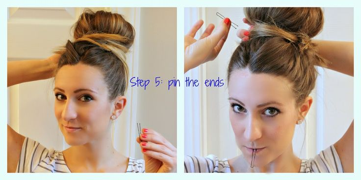 how to put hair up in a bun without pins