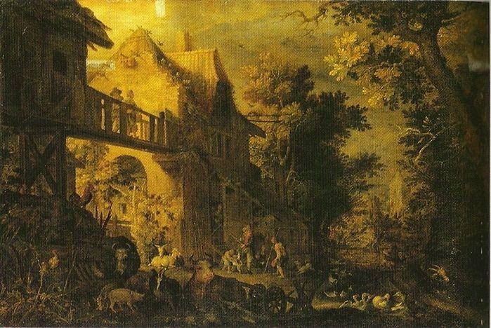 Саверей, Рулант Якобс, Savery Roelant Jacobsz (1576 — 1639). Двор фермы (ок.1610, ГМИИ им. Пушкина, Москва)