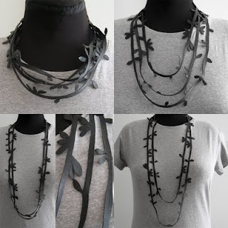 bike inner tube - handcut necklace.