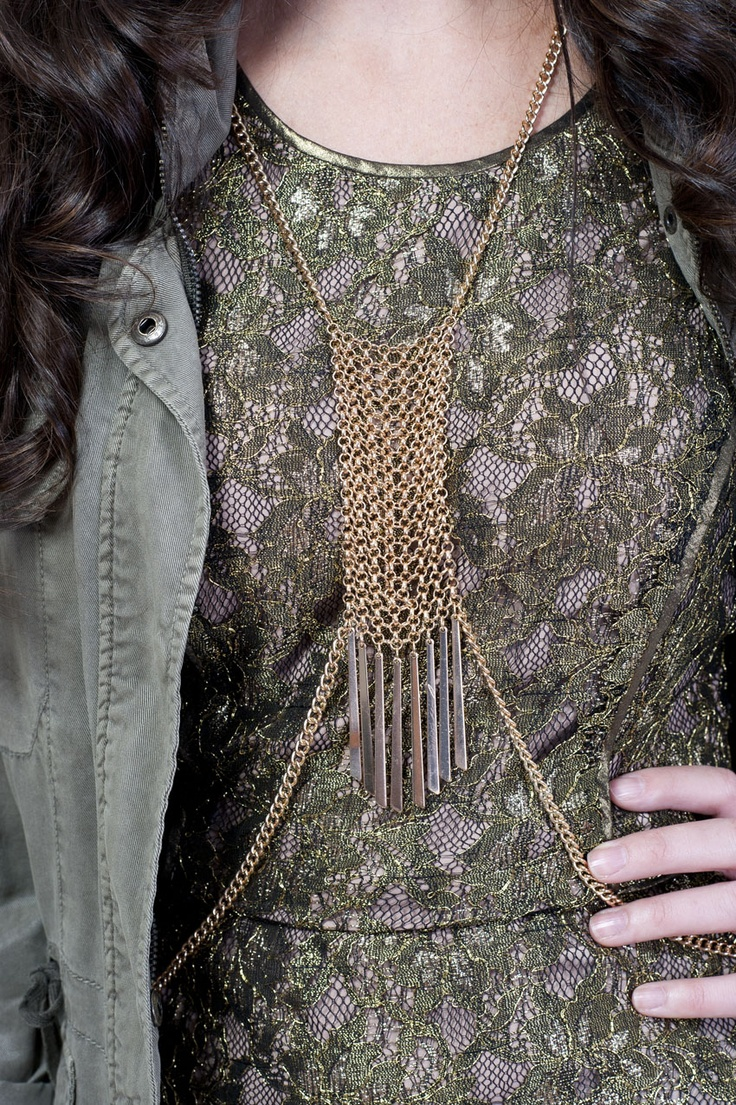 Dress - BCBG;  Body necklace - Aldo Accessories