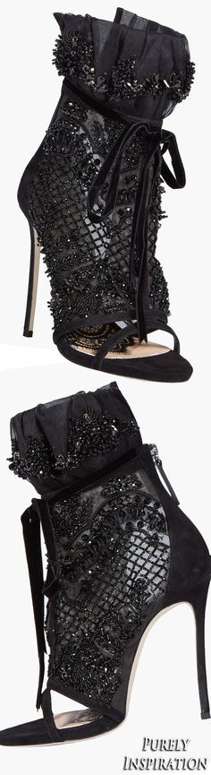 Dsquared Victorian Embellished Bootie (rhinestones, crystals)   Purely Inspiration