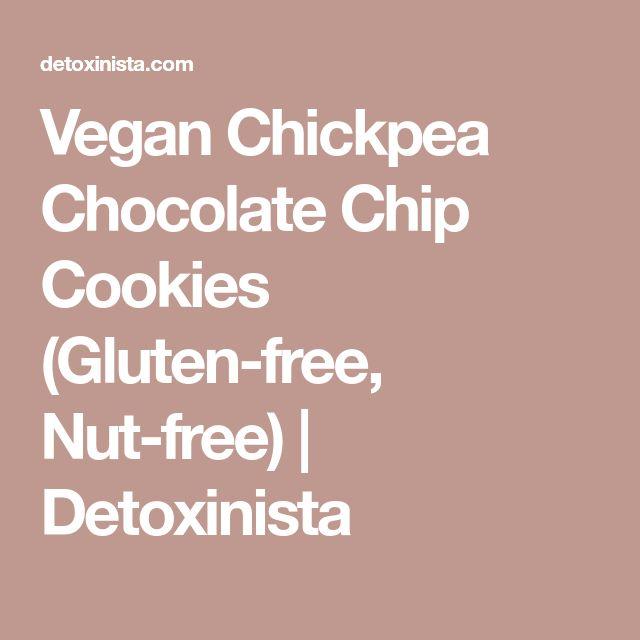 Vegan Chickpea Chocolate Chip Cookies (Gluten-free, Nut-free) | Detoxinista