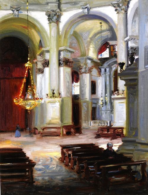 Interior, Santa Maria della Salute , 1910 , by Cadell