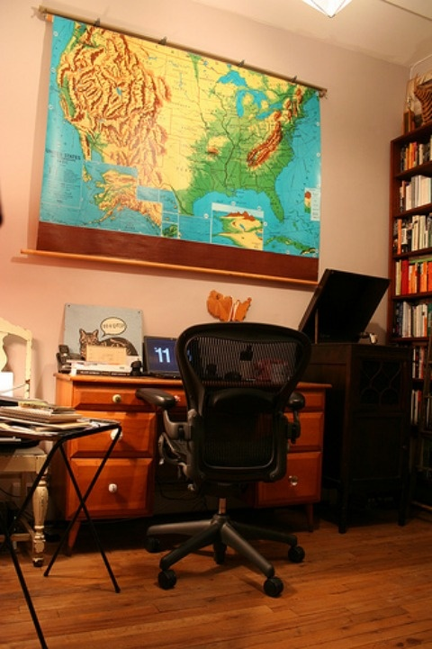 Music critic and author Amanda Petrusich's home office