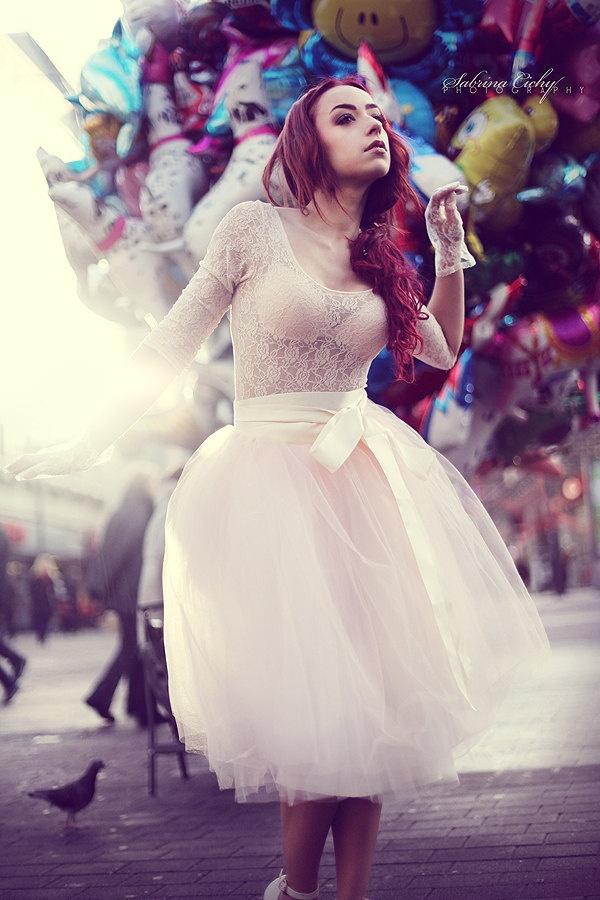 Custom Colors Tutu Romantic Ballerina Tulle by AnjouClothing. $128.00, via Etsy.