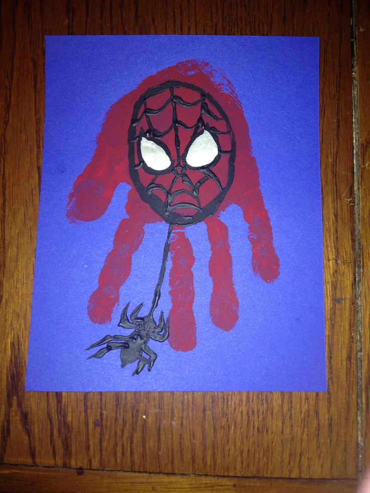 Spiderman Handprint Art Ideas For Children Handprint